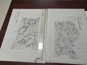 登州府莱阳县自治区域图甲乙2张【该地最早的按比例尺绘制的地图】