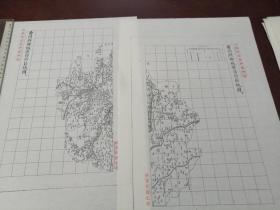 曹州府郓城县自治区域图甲乙2张【该地最早的按比例尺绘制的地图】
