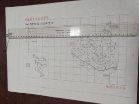 东昌府冠县自治区域图1张【该地最早的按比例尺绘制的地图】
