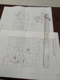 莱州府昌邑县自治区域图甲乙2张【该地最早的按比例尺绘制的地图】