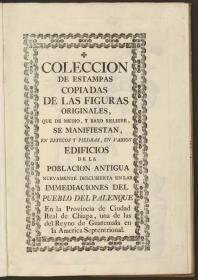 《帕伦克遗址画册》原始图案复制绘画作品集: 发现于帕伦克的贝勃罗印第安人,是1787年一位西班牙军官Antonio del Río对玛雅古国城市遗址进行了清理、研究、绘图和考察,并聘请了一位名叫RicardoAlmendáriz的危地马拉绘图师绘制了30张壮观的帕伦克遗址的绘图。本店销售的为仿古高档道林纸原色原貌原大复制本