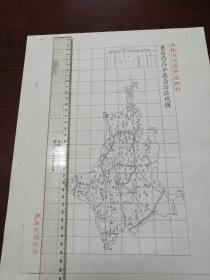 东昌府茌平县自治区域图1张【该地最早的按比例尺绘制的地图】