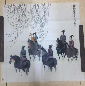 曹小钦画作——赏乐图