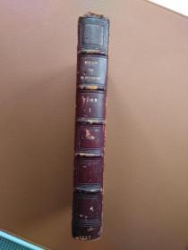 Essais de Montaigne 蒙田随笔 第一卷 法文原版 1827年 将近两百年的古董书 馆藏书 快递包邮