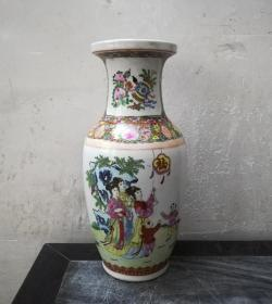 福星高照*题材罕见的文革广彩大瓷瓶