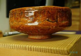 赤乐平茶碗 大樋烧饴釉瓷 日本陶磁与茶道进阶级收藏品