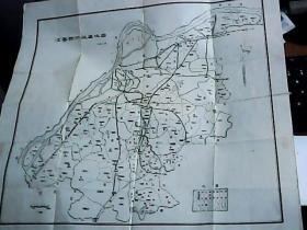 江宁县行政区域图··