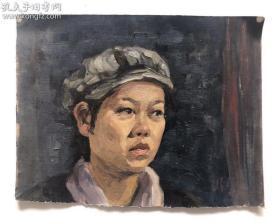 刘国枢人物油画一幅