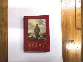 毛主席万岁(毛主席诗词,毛主席诗词歌曲,书前有毛主席彩色照片80张,其中毛林合影11张)红塑皮,私藏品好近全品,内页无缺页,无涂划,永久保真