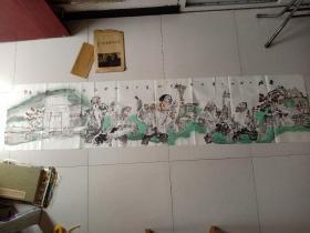 """李文龙,生于1966年,字了空,号土风山人,陕西省咸阳市人。1989年毕业于专业艺术院校。1992年跟随著名画家、陕西画坛""""鬼才""""秦惠浪先生学习写意人物画,并成为关门弟子。现为国家二级美术师,中国美术家协会陕西分会会员,北京天艺书画院院长,泰王国画院副院长,中国国画家协会理事,中国书法艺术研究院艺术委员会理事,西安市同仁书画研究院副院长。作品保真"""