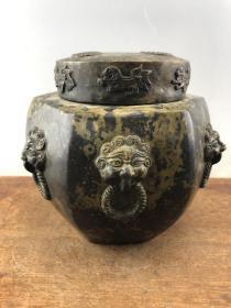 赔钱处理乡下收来的大铜罐子B3659