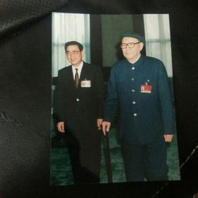 乌兰夫照片 背面有圆珠笔字迹 17×12.5厘米