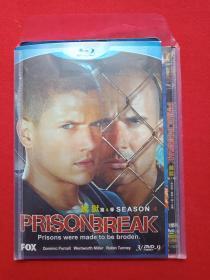 DVD-9光碟存2碟片1盒装FOX完整版《越狱:Prison Break第4季》2009年(葛·艾坦尼斯执导,保罗·舒尔灵编剧,温特沃思·米勒和多米尼克·珀塞尔主演)