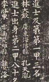 元明清三朝进士题名碑录-0065嘉靖11年壬辰科(1532)林大钦 孔天胤 高节。原刻。北京国子监。民国拓本。拓片尺寸84.77*200.37厘米。宣纸原色原大仿真。微喷复制