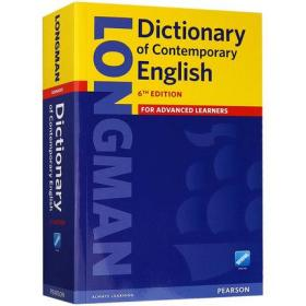 Longman Dictionary of Contemporary English 朗文英英词典字典 英文原版朗文当代高阶英语词典辞典 第6版