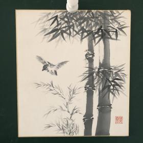 日本回流字画 626方型色纸 卡纸 小画片