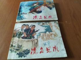渔岛怒潮(上,下全) 江西版文革小人书,1973年1版1印。同题材缺本
