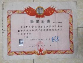 五十年代毕业证书