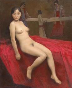 高清复制油画  袁正阳油画作品 40x48厘米