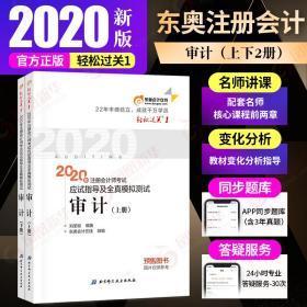 【2020新版】东奥CPA审计轻一(上下2册)东奥注册会计师2020注会