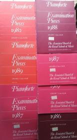 英文原版钢琴谱: Piano Examination Pieces  (7本合售,无字迹)