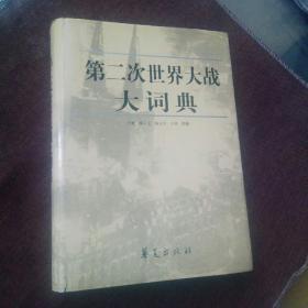第二次世界大战大词典(精装带书衣,未翻阅,库存书封面自然旧)