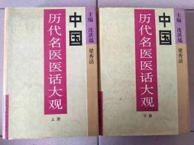 中国历代名医医话大观上下册  沈洪瑞 梁秀清 主编  16开 精装 1996年一版一印