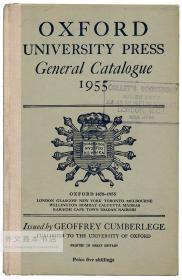 Oxford University Press General Catalogue Twelfth Edition 1955, With an Alphabetical List 英文原版-《牛津大学出版社总目录第十二版(1955年),附按字母排序的清单》