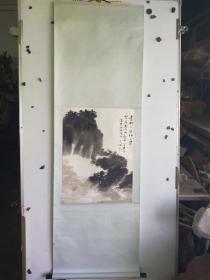 柳子谷  山水立轴  旧裱 尺寸60x44