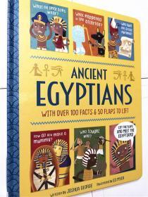 尾单正品 英文原版儿童科普精装纸板翻翻书 ancient egyptians