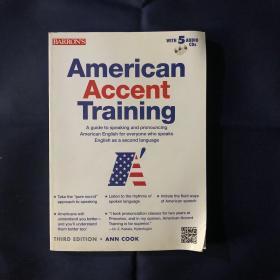 American Accent Training 美语语音训练 含有5张光盘CD内页干净未用