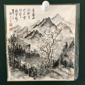 日本回流字画 697方型色纸 卡纸 小画片