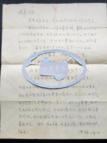 曾任中宣部理论局副局长、1979年《读书无禁区》作者 洪林 约1977年 钢笔信札一通一大页(时年52岁,希望离开河北,好好作点工作,不愿虚度此生……)270