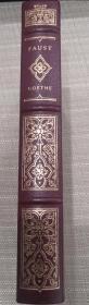 1981年富兰克林图书馆Franklin Library限量版世界经典名著 Faust《浮士德》,Johann Wolfgang von Goethe / 歌德经典名著 ,英文原版,绝版真皮—布面豪华插图本,三面刷金,精美插图