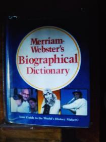 英文原版 Merriam Webster's Biographical Dictionary 精装大开本