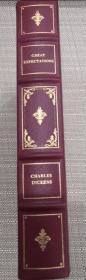 1979年富兰克林图书馆Franklin Library限量版世界经典名著 Great Expectations《远大前程》, Charles Dickens狄更斯 经典名著 ,英文原版,绝版真皮—布面豪华插图本,三面刷金,精美插图