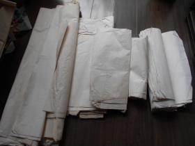 老纸头【90年代,各种零散宣纸一沓】有四尺的