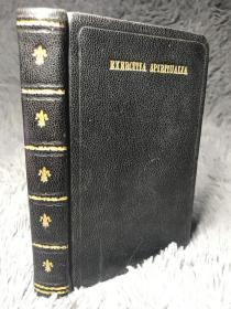 1911年   EXERCITIA  SPIRITUALIA    全皮装帧  双色印刷   插图版  三面书口鎏金   语言不详