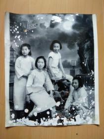 河南省立开封女子中学校园夜影