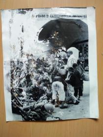 日寇占领河南省会开封后躲避战乱的难民