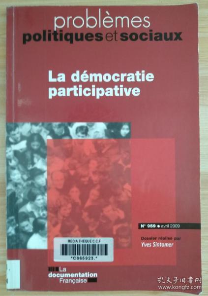 法文原版书 Problemes politiques et sociaux nø959