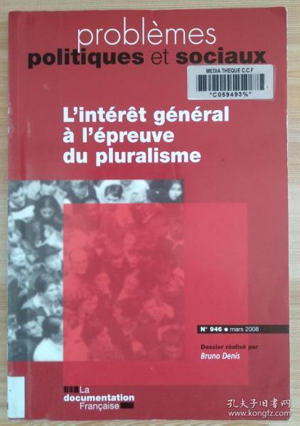 法文原版书 Problemes politiques et sociaux nø946