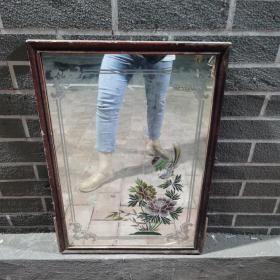 老镜子牡丹花