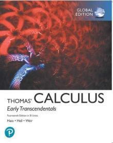 Thomas' Calculus: Early Transcendentals  14e  英文原版 托马斯微积分 第十四版