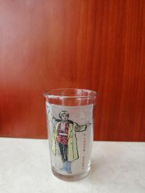 70年代经典样板戏-----文革怀旧收藏---《智取威虎山玻璃杯》-----虒人荣誉珍藏
