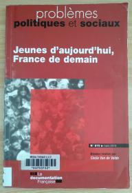 法文原版书 Jeunes d'aujourd'hui, France de demain (N.970) (Français) Broché – 25 mai 2010 de Cécile Van de Velde (Auteur)