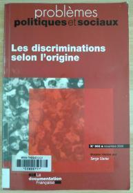 法文原版书 les discriminations selon l'origine (n.966 novembre09) (Français) Broché – 20 novembre 2009 de Serge Slama (Auteur)