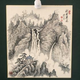 日本回流字画 734方型色纸 卡纸 小画片