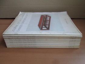 《中国古典家具学会会刊》(JORNAL OF THE CLASSICAL CHINESE FURNITURE SOCIETY,英文版)十册合售