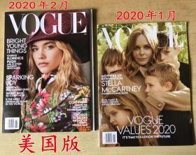 美国版 VOGUE 2020年1月+2月 促销打包英文时尚潮流趋势服装杂志
